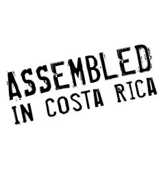 Assembled in costa rica rubber stamp vector