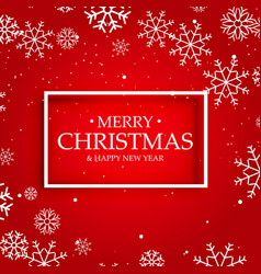 Red background of merry christmas with white vector