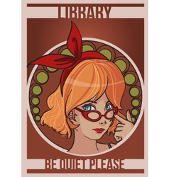 Library girl vector