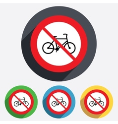 No bicycle sign icon eco delivery vector