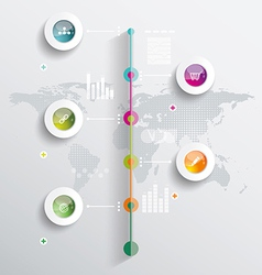 Time Line with Map vector image