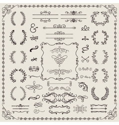 Hand drawn doodle design elements vector