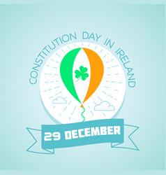 29 december constitution day in ireland vector