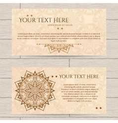 Cards with pattern of henna vector