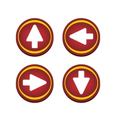 Red glossy arrow button vector