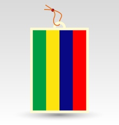 mauritian flag made in tag vector image
