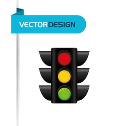 Traffic signal design vector