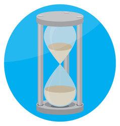 Hourglass icon flat vector image