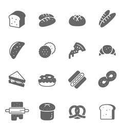 Icon set - bread and bakery vector