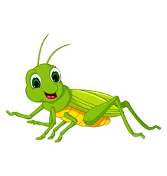 Green locust cartoon vector
