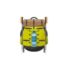 Backpack in a flat stzle vector image