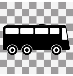 black Bus icon on transparent vector image