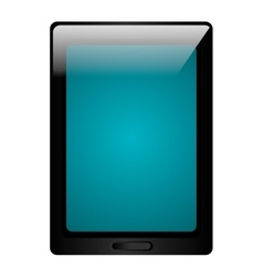 Black tablet electronic device icon vector