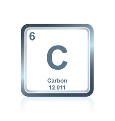 Chemical element carbon from the periodic table vector