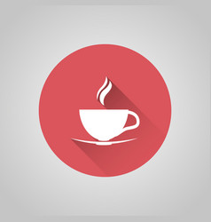 Cup coffee icon vector