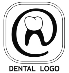 dental logo teeth vector image vector image