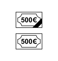Euro banknote simple black icon vector image