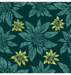 grunge floral pattern vector image
