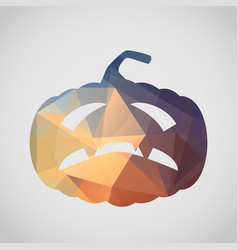 halloween card with gloomy pumpkin of triangle vector image