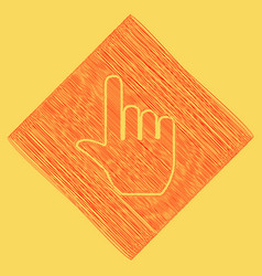hand sign red scribble icon vector image