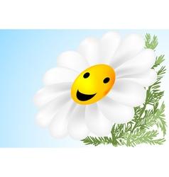 happy flower vector image vector image
