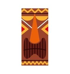 hawaiian tiki culture icon vector image