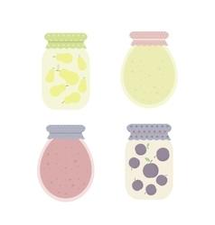 Jam in jars vector image vector image