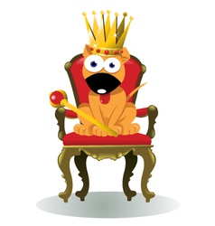 king of the house vector image