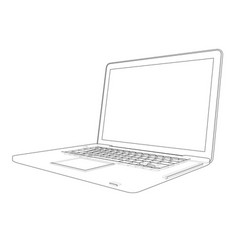 laptop sketch vector image vector image