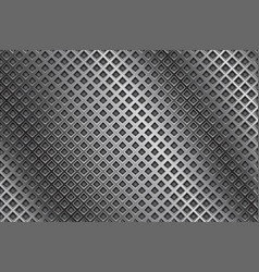 Metal background with diamond holes vector