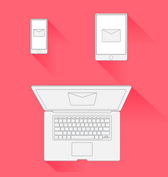 Minimal design email marketing vector