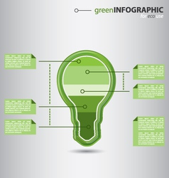 Modern high-tech bulb info graphic vector image vector image