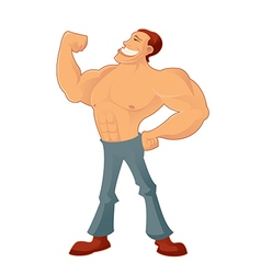 Muscleman vector image