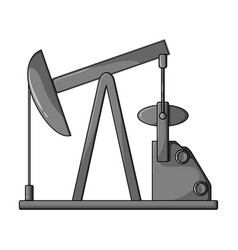 Oil pumpoil single icon in monochrome style vector