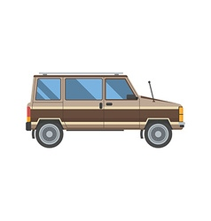 Old minivan car vector