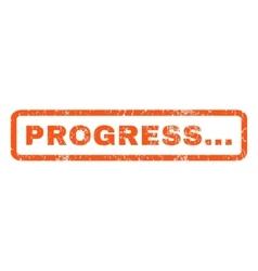 Progress rubber stamp vector