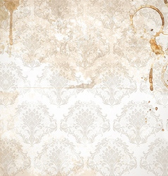 Rustic floral background in neutral tones vector