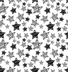 seamless black star pattern vector image