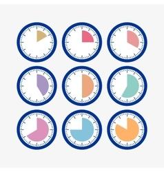 Set clock vector image vector image