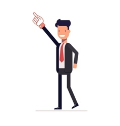 Successful businessman or manager shows up index vector image