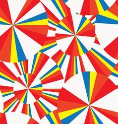 Summer circles pop-art seamless pattern vector