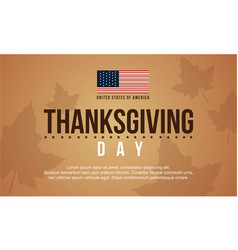 Thanksgiving day background card collection vector