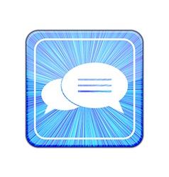 version Bubble speech icon Eps 10 vector image vector image