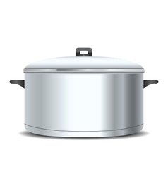A stainless pan vector