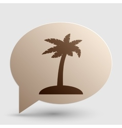 Coconut palm tree sign brown gradient icon on vector