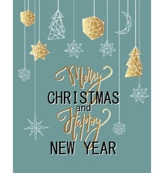 Merry christmas and happy new year luxury vector