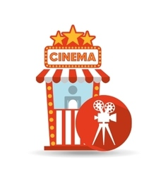 Cinema movie ticket office film camera graphic vector