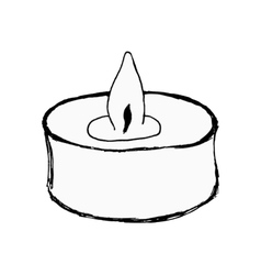 Aromatic candle vector