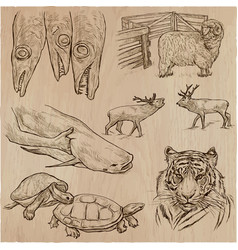 Animals - an hand drawn pack collection vector