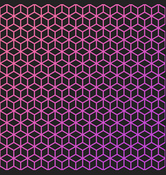 abstract background of color lineart cubes vector image
